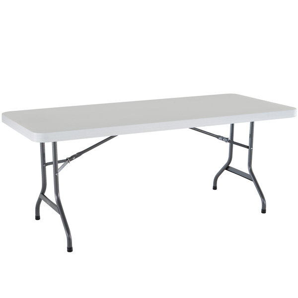 30x72 Gray Granite Correll CP3072FM Light Weight Blow Molded Fold in Half Table Rectangular For Easy Transportation