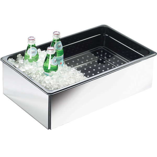 """Cal-Mil 368-12-24 Mirror Finish ABS Fully Insulated Ice Housing - 20"""" x 12"""" x 6"""" Main Image 1"""