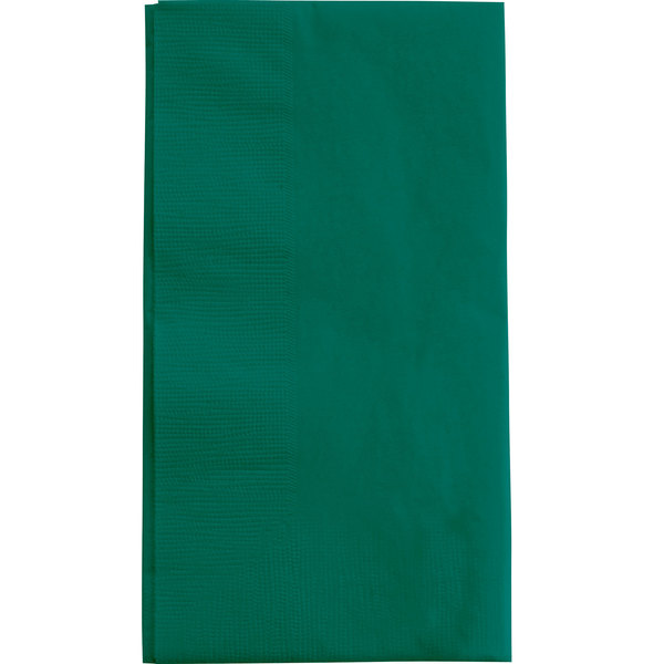 Choice 15 inch x 17 inch Customizable Hunter Green 2-Ply Paper Dinner Napkins - 1000 / Case
