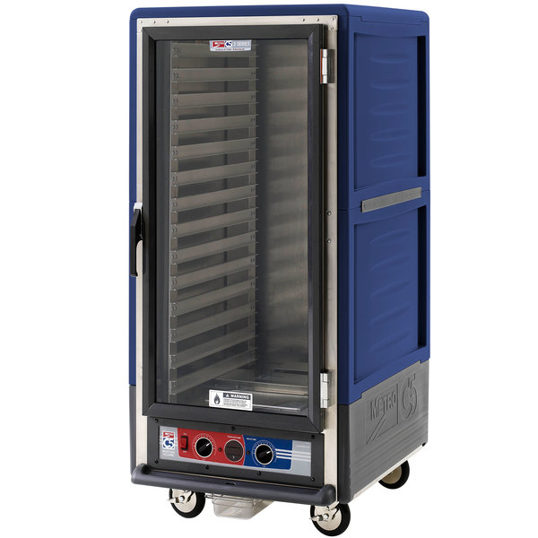 Metro C537-MFC-L-BU C5 3 Series Heated Holding and Proofing Cabinet with Clear Door - Blue Main Image 1
