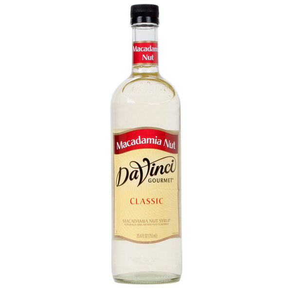 DaVinci Gourmet 750 mL Classic Macadamia Nut Flavoring Syrup