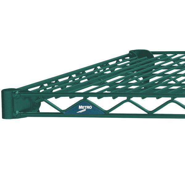 "Metro 1424N-DHG Super Erecta Hunter Green Wire Shelf - 14"" x 24"""