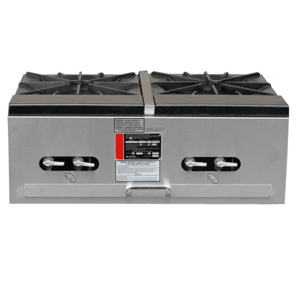 Town SR-24-G-2X-P Liquid Propane Double Stock Pot Stove - 274,000 BTU