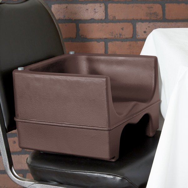 Cambro 200BC131 Brown Plastic Booster Seat - Dual Seat