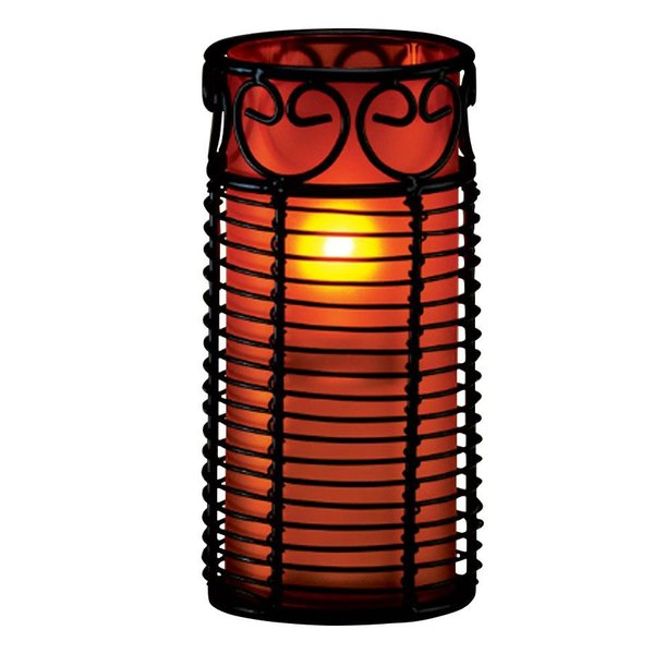 Sterno Products 85340 Red Frost Cylinder Globe