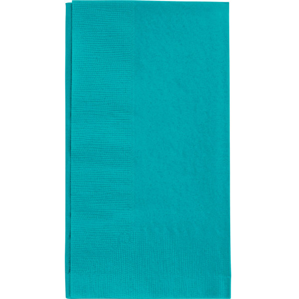 Teal Paper Dinner Napkin, Choice 2-Ply Customizable, 15 inch x 17 inch - 1000/Case