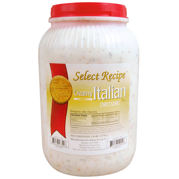 1 Gallon Creamy Italian Dressing - 4/Case