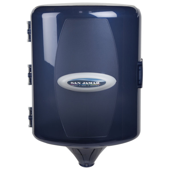San Jamar T410TBL Adjustable Centerpull Towel Dispenser - Arctic Blue