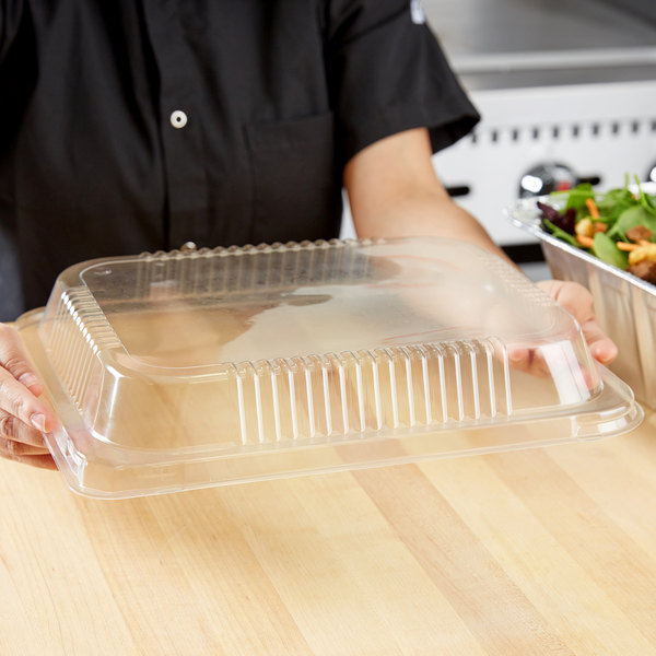 """Durable Packaging P4300-100 Half Size Dome Lid for Steam Table Pan 1 15/16"""" High - 20/Pack"""