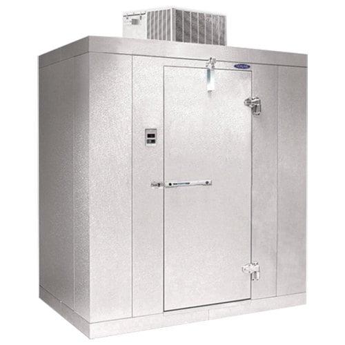"""Lft. Hinged Door Nor-Lake KLB7488-C Kold Locker 8' x 8' x 7' 4"""" Indoor Walk-In Cooler without Floor Main Image 1"""