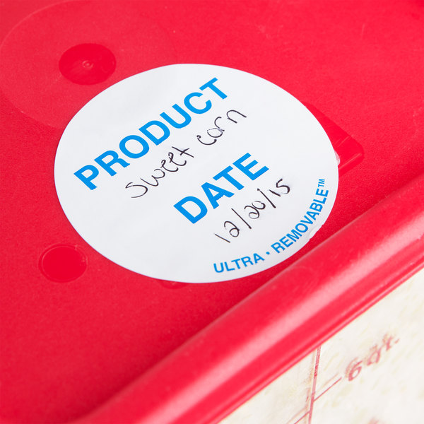 """National Checking Company UP4904 3"""" Product Date Ultra Removable Label - 500/Roll"""