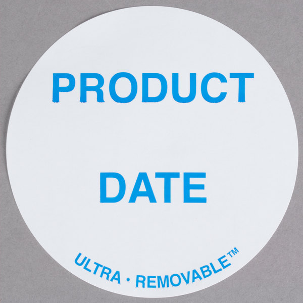 National Checking Company UP4904 3 inch Product Date Ultra Removable Label - 500/Roll