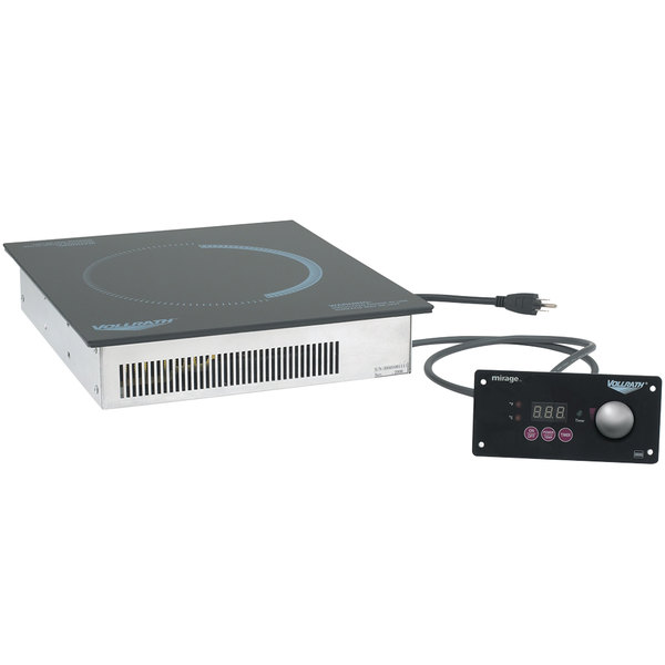 """Vollrath 5950145 Mirage Induction Warmer with 5960810 18"""" x 24"""" White Granite Ceramic Template Main Image 1"""
