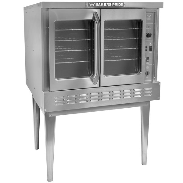 Bakers Pride BPCV-E1 Restaurant Series Bakery Depth Single Deck Full Size Electric Convection Oven - 208V, 3 Phase, 10500W Main Image 1