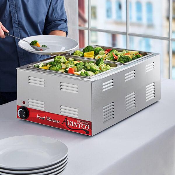 "Avantco W50 12"" x 20"" Full Size Electric Countertop Food Warmer - 120V, 1200W Main Image 4"