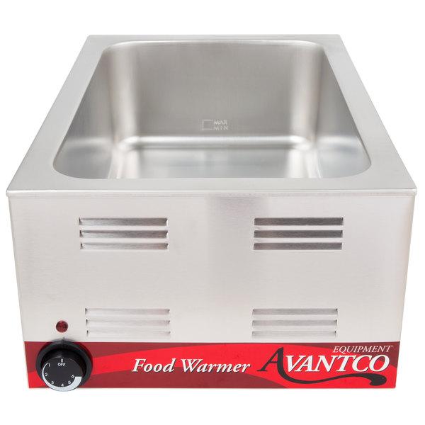Avantco W50 12 inch x 20 inch Electric Countertop Food Warmer - 120V, 1200W