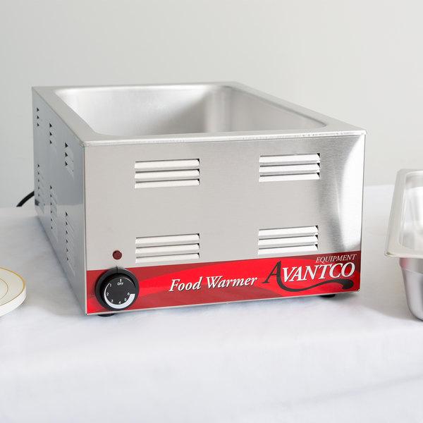 "Avantco W50 12"" x 20"" Full Size Electric Countertop Food Warmer - 120V, 1200W"