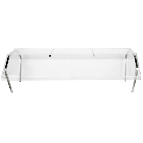 """Vollrath 38065 76"""" Buffet Sneeze Guard for Vollrath 5 Well / Pan Hot or Cold Food Tables"""
