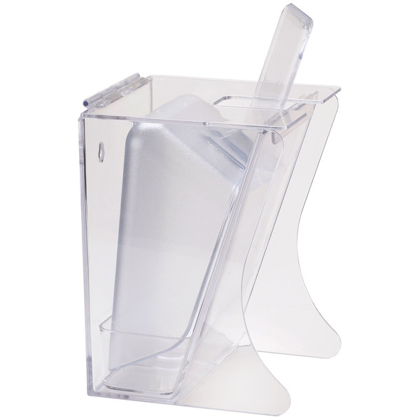 Cal-Mil 792 Freestanding Scoop Holder with 2 Qt. Scoop and Drip Tray Main Image 1
