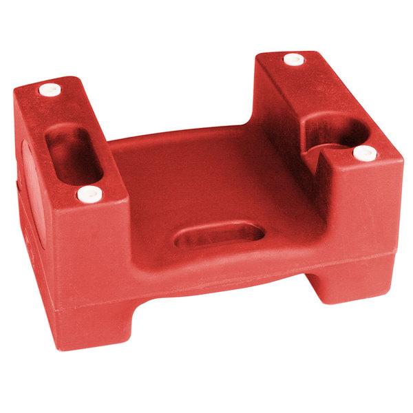 Koala Kare Booster Buddies KB116-03 Red Plastic Booster Seat - Dual Height - 5/Pack