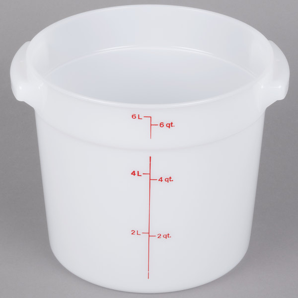 Cambro RFS6148 6 Qt Round White Food Storage Container