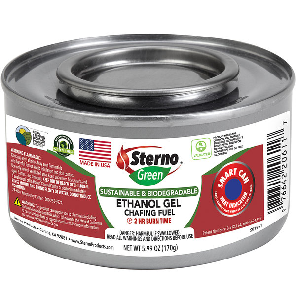 Sterno 20612 2 Hour Ethanol Power Heat Plus Chafing Dish Fuel - 72/Case Main Image 1