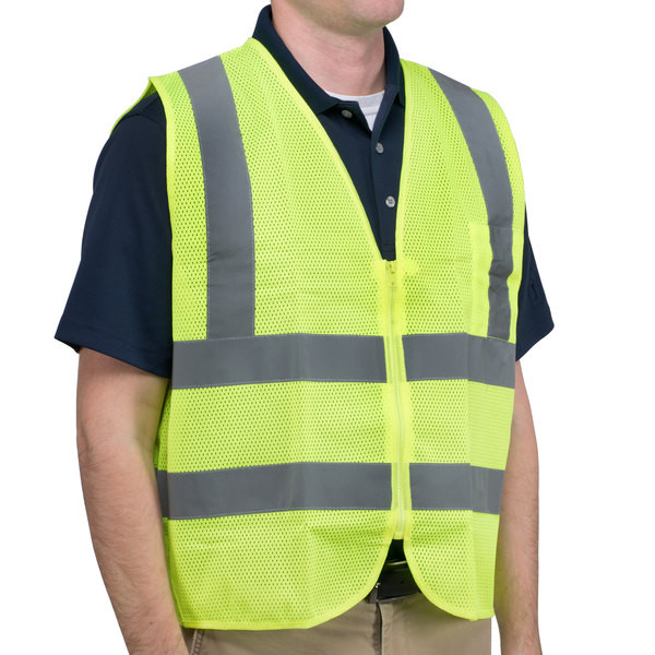 Lime Class 2 High Visibility Safety Vest - Medium Main Image 1