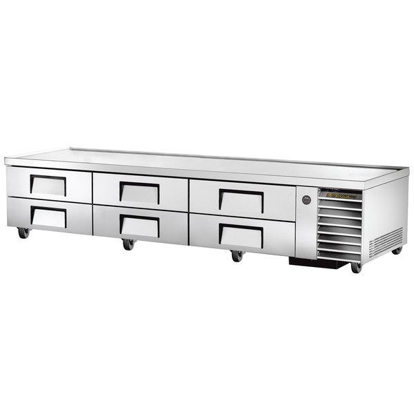 "True TRCB-110 110"" Six Drawer Refrigerated Chef Base"