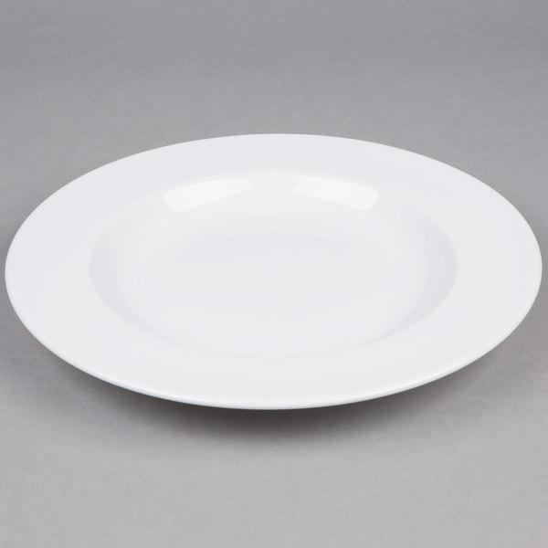 Tuxton ALD-120 Alaska 18 oz. Bright White Rim China Soup / Pasta Bowl  - 12/Case