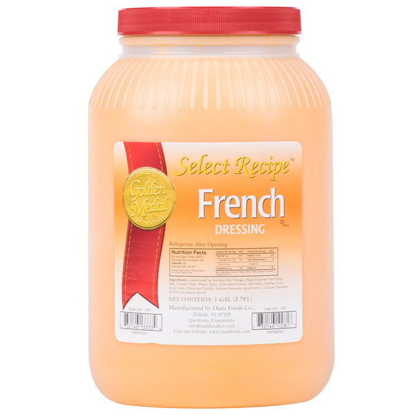 Oasis 1 Gallon French Dressing - 4/Case