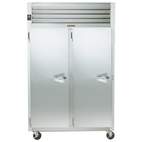 Traulsen G24313 Solid Door 2 Section Hot Food Holding Cabinet with Left Hinged Doors Main Image 1