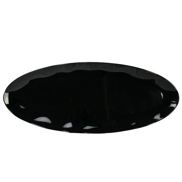 """Thunder Group RF2024B 24"""" x 10"""" Black Pearl Melamine Oval Platter - 2/Pack"""
