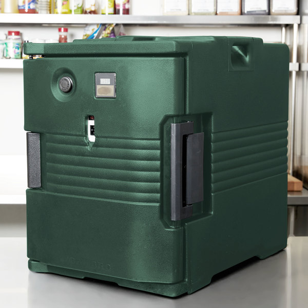 Cambro UPCH400192 Granite Green Ultra Pan Carrier Heated Holding Pan Carrier - 110V