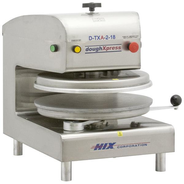 """DoughXpress D-TXA-2-18 Dual Heat Round Air Automatic Tortilla Press 18"""" - 220V Main Image 1"""
