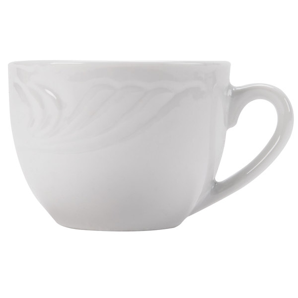 CAC RSV-54 Roosevelt 3.5 oz. Super White Porcelain Chinese Tea Cup - 36/Case