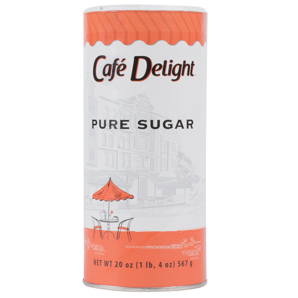 Sugar Canister 20 oz. Dixie Crystals - 24/Case