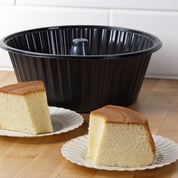 """Genpak 55A10 10"""" Bake N' Show Angel Food Cake Pan - 200/Case Main Image 7"""