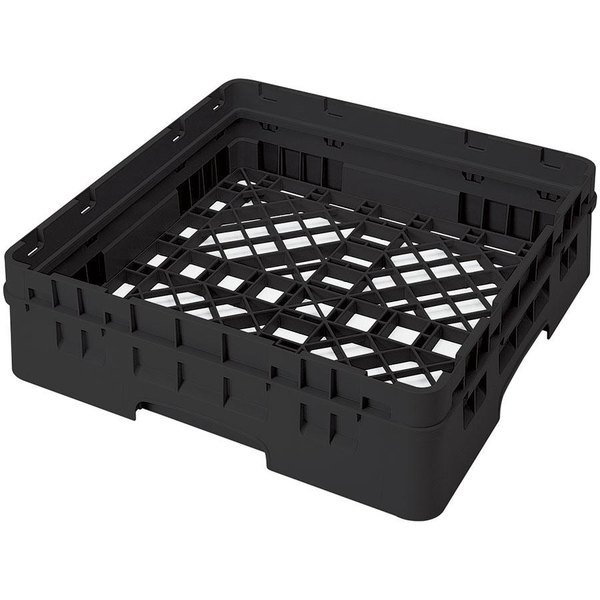 Cambro BR414110 Black Camrack Full Size Open Base Rack with 1 Extender