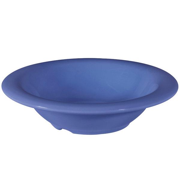 GET B-86-PB Diamond Mardi Gras 8 oz. Peacock Blue Melamine Bowl - 48/Case Main Image 1