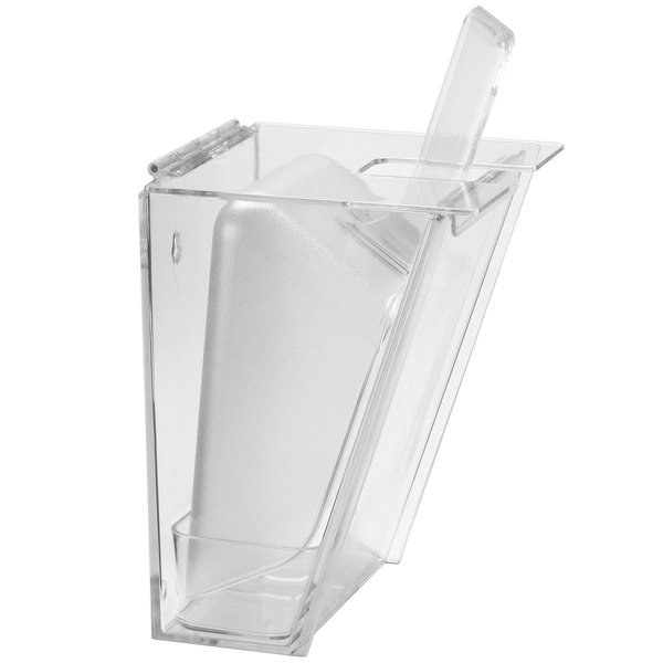 Cal-Mil 793 Wall Mount Scoop Holder with 2 Qt. Scoop and Drip Tray