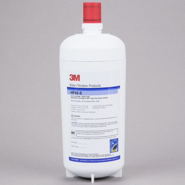 3M Water Filtration Products HF45-S Replacement Cartridge for ICE145-S Water Filtration System - 3 Micron and 2.1 GPM