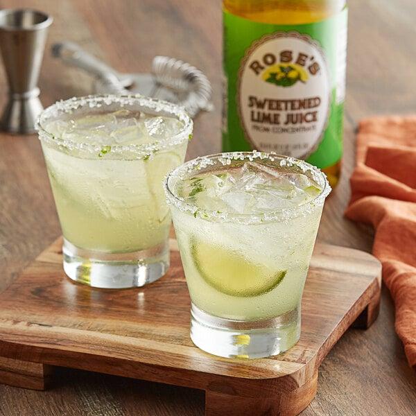 Rose's 1 Liter Sweetened Lime Juice - 12/Case Main Image 2
