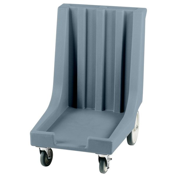 "Cambro CD1826HB401 Slate Blue Camdolly with Rear Easy Wheels for 18"" x 26"" Trays - 80 Tray Capacity Main Image 1"