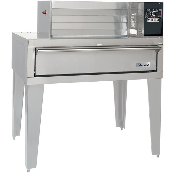 "Garland G56PT Liquid Propane 63"" Air Deck Pizza Oven with Top-Mounted Power Module - 80,000 BTU"
