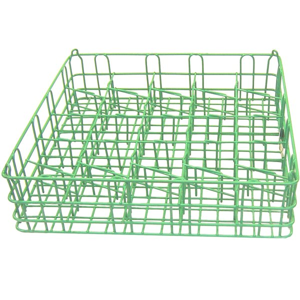 """25 Compartment Catering Glassware Basket - 3 1/2"""" x 3 1/2"""" x 4"""" Compartments"""