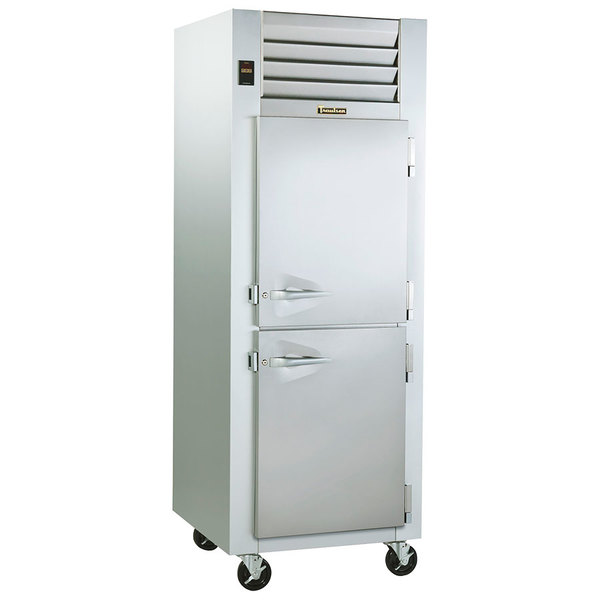 Traulsen G14300 Solid Half Door 1 Section Hot Food Holding Cabinet with Right Hinged Doors