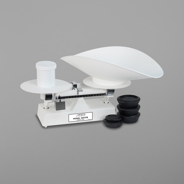 Cardinal Detecto 1001TB 16 lb. Baked Enamel Baker's Dough Scale with Scoop - 16 oz. x 0.25 oz. Beam Grads Main Image 1