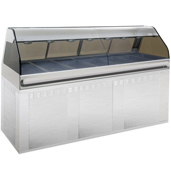 """Alto-Shaam EU2SYS-96 SS Stainless Steel Cook / Hold / Display Case with Curved Glass and Base - Full Service, 96"""" Main Image 1"""