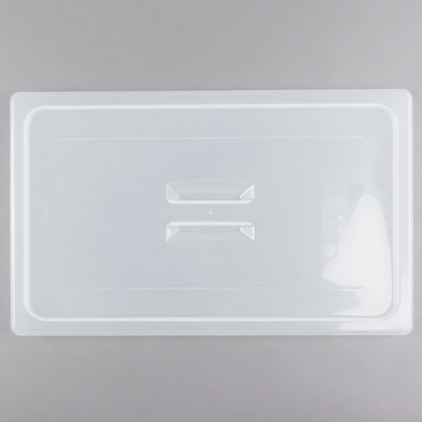 Cambro 10PPCH190 Full Size Translucent Polypropylene Handled Lid