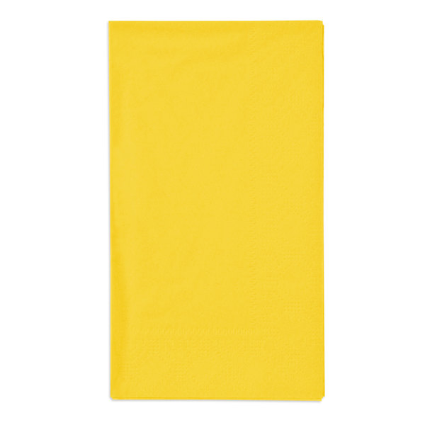 Sun Yellow Paper Dinner Napkins, 2-Ply, 15 inch x 17 inch - Hoffmaster 180540 - 1000/Case